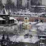 hram chasovnia na kachirke pervyy sneg
