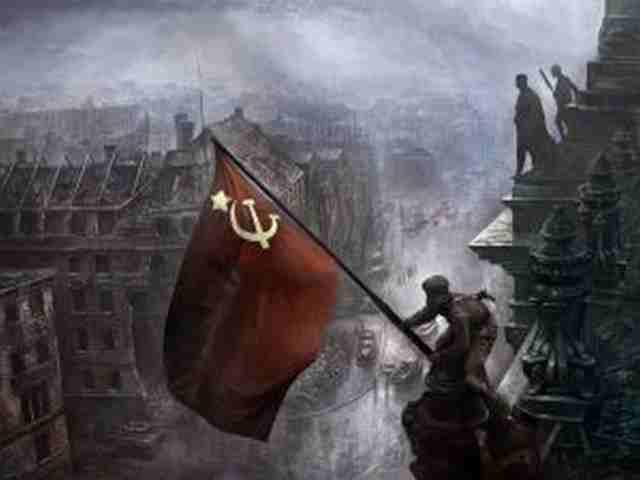 83 (9мая, день победы, флаг, солдаты)