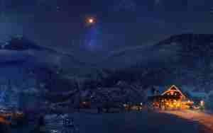 vacation-gory-dom-les-zima-sneg-derevia-ogni